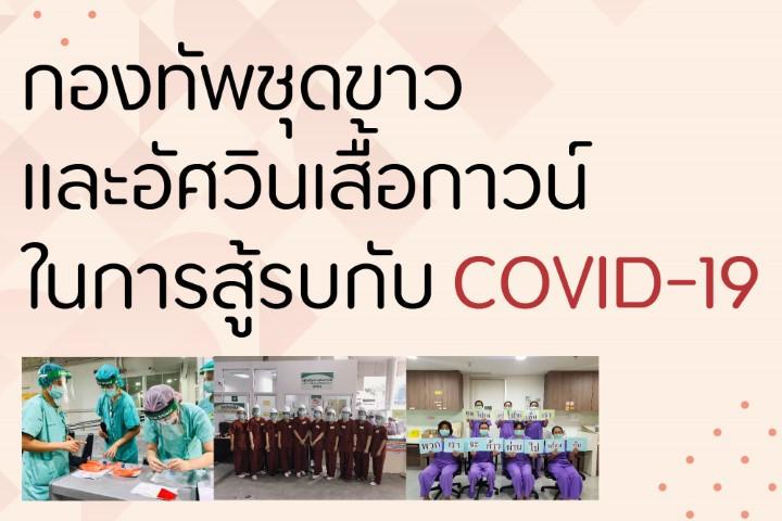 กองทัพชุดขาวและอัศวินเสื้อกาวน์ในการสู้รบกับ COVID-19