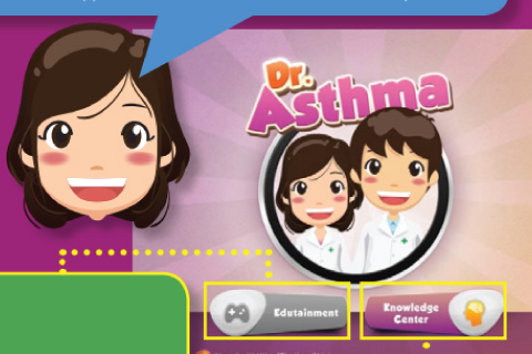 """""""Dr.Asthma"""" The First Medical Interactive application in Thailand"""