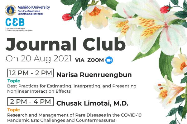 Journal Club 20 August 2021