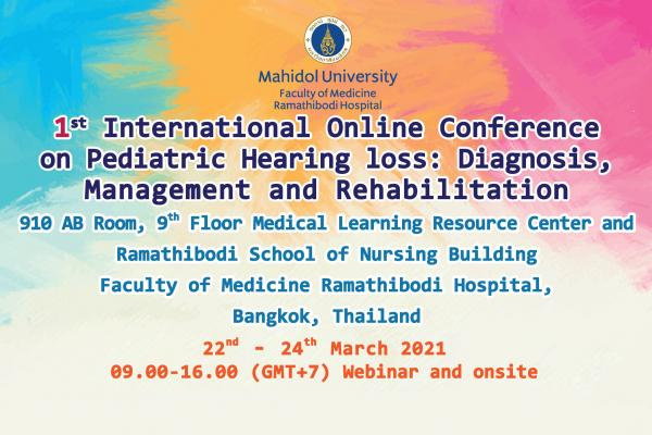 1st International Online Conference on Pediatric Hearing Loss: Diagnosis, Management and Rehabilitation