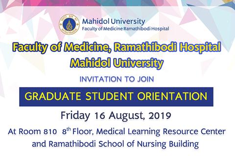 Orentation Of Graduate Student 16 Aug 2019