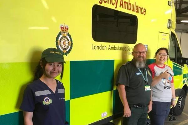 ศึกษาดูงาน ณ London Ambulance Service, Academy Football Club of Heston และ Robert Dob (Paramedic Gen 1 ของ ประเทศอังกฤษ)