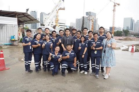การฝึกซ้อมแผนรับมืออุบัติภัย โครงการก่อสร้างอาคารศูนย์บริหารทางพิเศษ การทางพิเศษแห่งประเทศไทย
