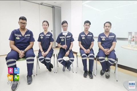 รางวัลแห่งความประทับใจของนักศึกษาฉุกเฉินการแพทย์ นักศึกษาชั้นปีที่ 3