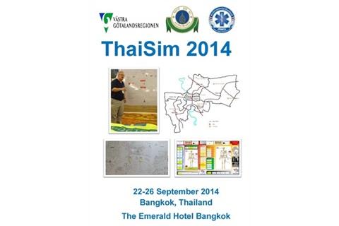ภาควิชาเวชศาสตร์ฉุกเฉินคณะแพทยศาสตร์โรงพยาบาลรามาธิบดี ร่วมกับสถาบันการแพทย์ฉุกเฉินแห่งชาติ จัดฝึกอบรมหลักสูตร ThaiSim 2014 ณ ห้อง PETCHCHOMPOO โรงเเรมดิเอมเมอร์รัลด์ รัชดา กรุงเทพฯ