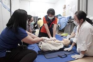 โรงเรียนพยาบาลรามาธิบดี จัดโครงการช่วยชีวิตขั้นพื้นฐาน (Basic Life Support : BLS) สำหรับบุคลากรสายวิชาการ