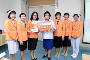 สมาคมศิษย์เก่าพยาบาลรามาธิบดี มอบเงินรายได้จากการจัดกิจกรรม Ramathibodi Nurse Fun Run ให้แก่โรงเรียนพยาบาลรามาธิบดี