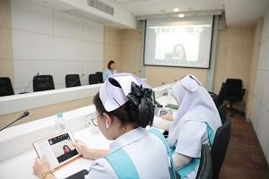 """ประชุมออนไลน์ """"International meeting"""" กับ School of Nursing, College of Life, Environment, and Advanced Sciences, Osaka Prefecture University ประเทศญี่ปุ่น"""