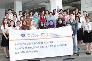 นักศึกษาพยาบาลในโครงการแลกเปลี่ยนจาก College of Nursing, Taipei Medical University ประเทศไต้หวัน