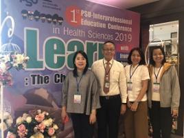 รองผู้อำนวยการฯ ฝ่ายการศึกษาพยาบาล ศาสตร์ เดินทางไปยัง มหาวิทยาลัยสงขลานครินทร์ เพื่อร่วมบรรยาย ในงานประชุมวิชาการ PSU-Interprofessional Education Conference in Health Sciences 2019