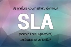 ประกาศใช้กระบวนการสำคัญเพื่อกำหนด SLA (Service Level Agreement) โรงเรียนพยาบาลรามาธิบดี
