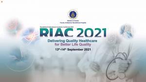 การประชุมวิชาการ ประจำปี 2564 ภายใต้การประชุมวิชาการ Ramathibodi International Academic Conference 2021(RIAC2021) : Delivering Quality Healthcare for Better Life Quality ซึ่งจัดโดยคณะแพทยศาสตร์โรงพยาบาลรามาธิบดี มหาวิทยาลัยมหิดล ในรูปแบบออนไลน์
