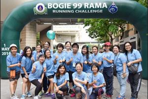 โรงเรียนพยาบาลรามาธิบดีเข้าร่วมกิจกรรม Bogie 99 Rama Running Challenge