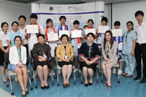 งานเลี้ยงส่งนักศึกษาจากประเทศญี่ปุ่นและประเทศไต้หวัน