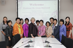Welcome Professor Dr. Gwen Sherwood from University of North Carolina at Chapel Hill, School of Nursing, USA.