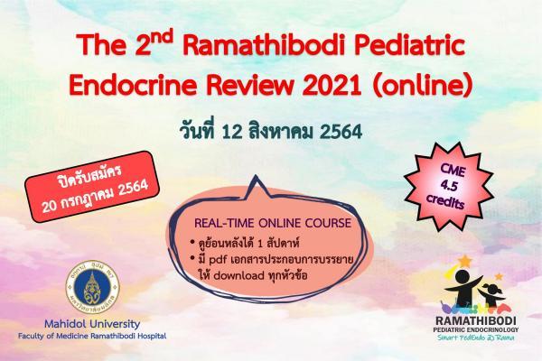 The 2nd Ramathibodi Pediatric Endocrine Review 2021