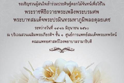 ขอเชิญผู้สนใจเข้าร่วมประดิษฐ์ดอกไม้จันทร์