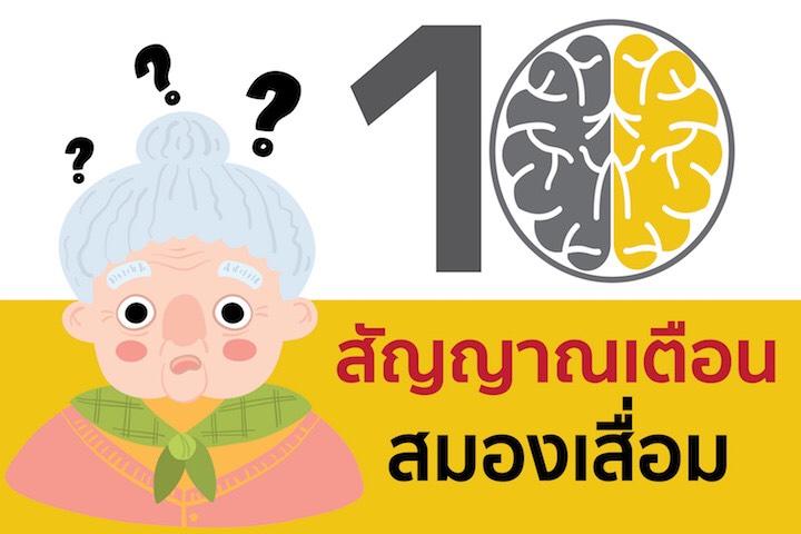 10 สัญญาณเตือนสมองเสื่อม