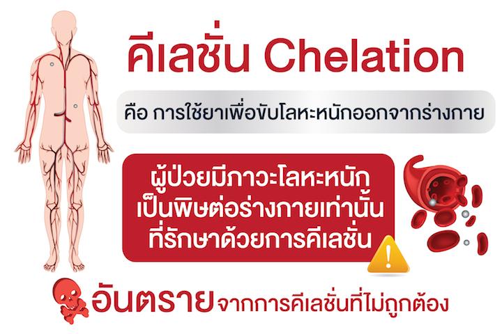 คีเลชั่น Chelation อันตรายถ้าใช้ไม่ถูกต้อง