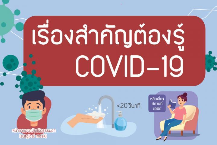 เรื่องสำคัญต้องรู้ COVID-19