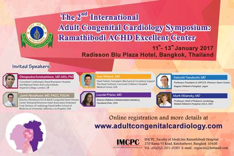 The 2nd International Adult Congenital Cardiology Symposium: Ramathibodi ACHD Excellent Center
