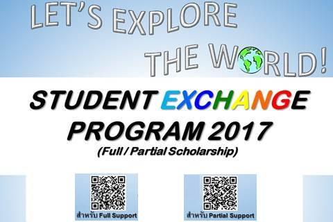 STUDENT EXCHANGE PROGRAM 2017 (Full/Partial Scholarship)