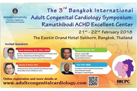 The 3rd Bangkok International Adult Congenital Cardiology Symposium: Ramathibodi ACHD Excellent Center