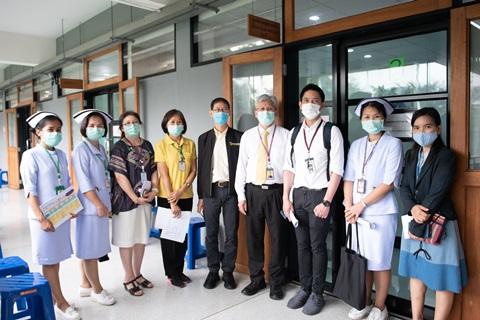 กิจกรรม Leadership Walk Round ศูนย์ตรวจสุขภาพเพื่อเดินทางไปต่างประเทศ และคลินิกแพทย์ทางเลือก โดยกลุ่มภารกิจดูแลสุขภาพ