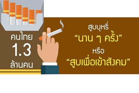 """สูบบุหรี่ """"นานๆ ครั้ง"""" หรือ """"สูบเพื่อเข้าสังคม"""""""