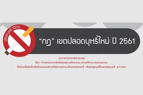 """""""กฎ"""" เขตปลอดบุหรี่ใหม่ ปี 2561"""