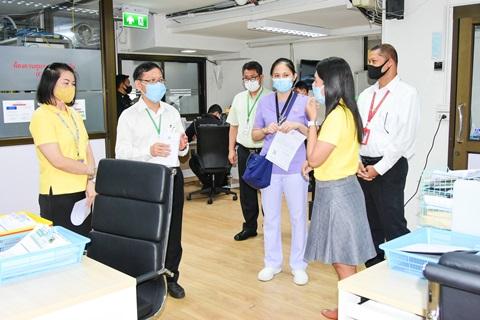 กิจกรรม Leadership Walk Round งานรักษาความปลอดภัย โดยกลุ่มภารกิจดูแลสุขภาพ