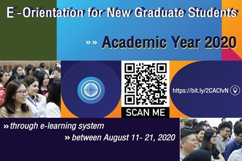 E-Orientation for New Graduate Students Academic Year 2020