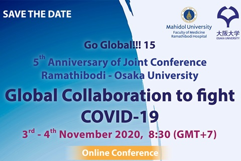 5th Anniversary of Joint Conference Ramathibodi - Osaka University Global Collaboration to fight COVID-19