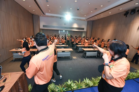 """การอบรม """"นโยบายดูแลสุขภาพบุคลากร และ โครงการ Happy Healthy RAMA สำหรับผู้นำหน่วยงาน"""""""