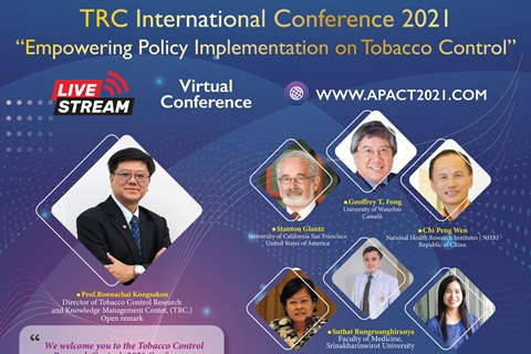 """TRC Intenational Coference 2021 """"Empowering Policy Implementation on Tobacco Control"""""""