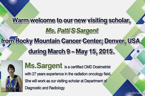 Welcome new visiting scholar, a dosimetry expert