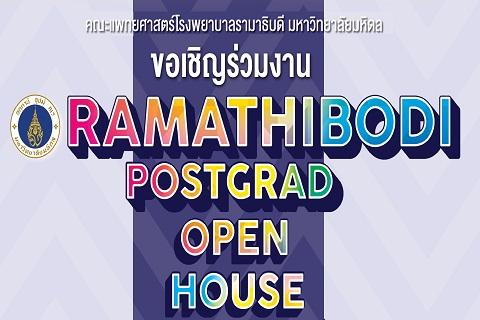 Ramathibodi Postgrad Open House 2018