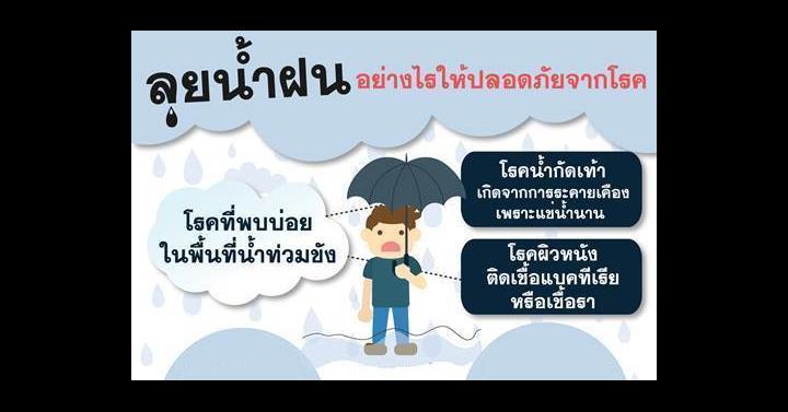 ลุยน้ำฝนอย่างไรให้ปลอดภัยจากโรค