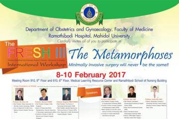 The FRESH III (Fantastic Ramathibodi Gyn Endoscopic Surgery in Harmony III) International Workshop