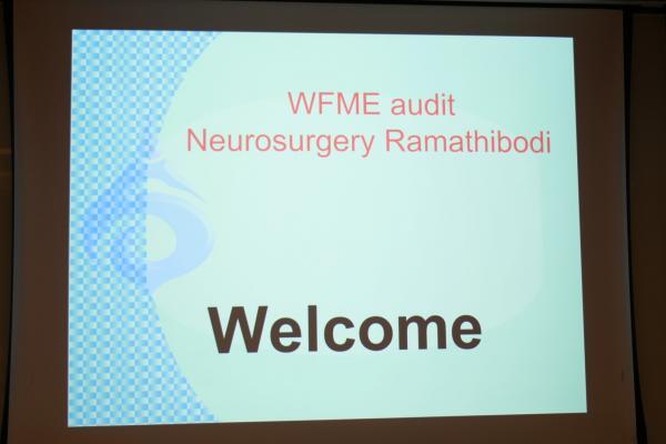 ตรวจประเมินหลักสูตร WFME สาขาประสาทศัลยศาสตร์